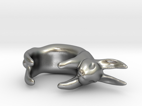 Bunny Ring in Natural Silver
