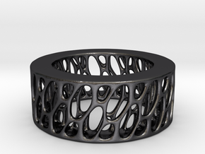 Framework Ring- Intrincate Smooth Simple in Polished and Bronzed Black Steel