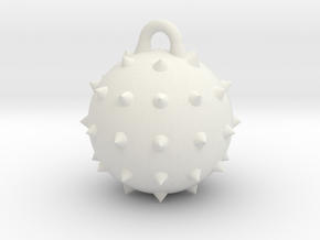 Wrecking Ball Spiked in White Natural Versatile Plastic