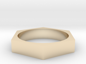 HexRing in 14K Yellow Gold