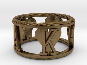 Royal Flush Hearts Ring in Natural Bronze: 8 / 56.75