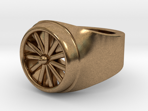 Jet Engine Ring  in Natural Brass