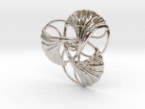 Ginkgo Brooch  in Platinum