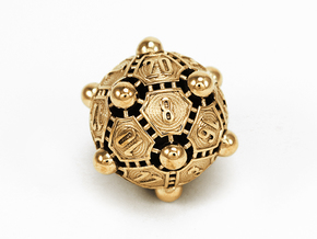 Nucleus D20 in Polished Brass
