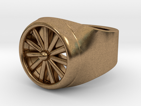 Jet Engine Ring 9.5  in Natural Brass