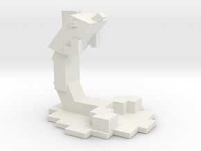 Minecraft Inspired Dolphin in White Natural Versatile Plastic