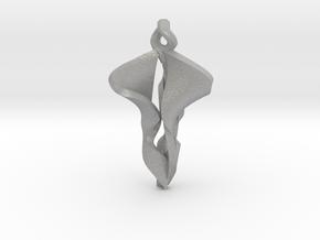 Pendant, Stylized 2 in Aluminum