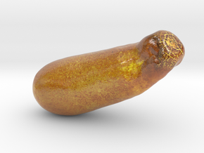 The Yellow Cucumber-mini in Glossy Full Color Sandstone