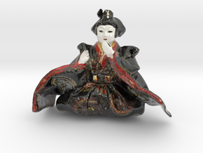 The Japanese Hina Doll-2-mini in Glossy Full Color Sandstone