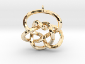 Knot Pendant (Earrings) in 14k Gold Plated Brass