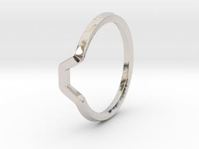BETTER HALF Ring(HEXAGON), US size 6, d=16,5mm  in Platinum: 6 / 51.5