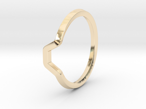 BETTER HALF Ring(HEXAGON), US size 12.5, d=22mm  in 14K Yellow Gold: 12.5 / 67.75