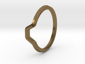 BETTER HALF Ring(HEXAGON), US size 8.5, d=18,5mm  in Natural Bronze: 8.5 / 58