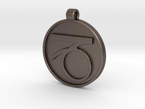Zodiac KeyChain Medallion-CAPRICON in Polished Bronzed Silver Steel