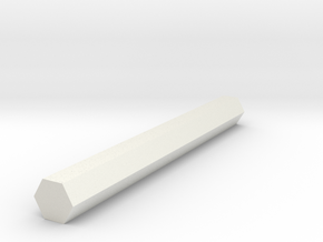 Hex Shaft Half Inch in White Natural Versatile Plastic