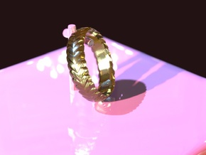 Hearts ring 15 mm in 18k Gold Plated