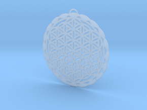 Flower of Life Pendant in Smooth Fine Detail Plastic