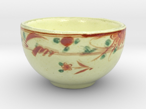 The Asian Teacup-mini in Coated Full Color Sandstone