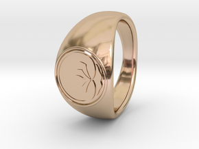 Ø0.666 inch/Ø16.92 mm Lotus Ring in 14k Rose Gold Plated Brass