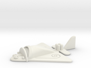 Ancient flying machine (jet) in White Natural Versatile Plastic