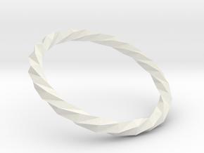 Twistium - Bracelet P=160mm Color in White Natural Versatile Plastic