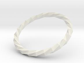 Twistium - Bracelet P=170mm Color in White Natural Versatile Plastic