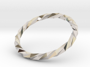 Twistium - Bracelet P=170mm Color in Rhodium Plated Brass