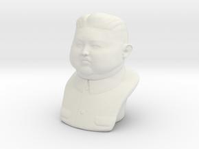 Kim Jong-un bust - smalle version in White Natural Versatile Plastic
