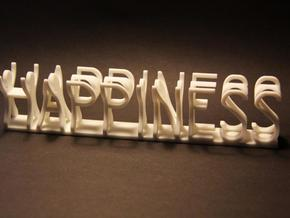 Happiness medium in White Natural Versatile Plastic