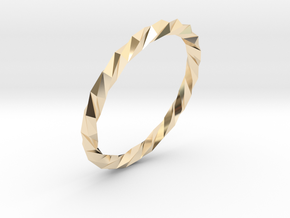 Twistium - Bracelet P=190mm Color in 14k Gold Plated Brass