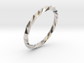 Twistium - Bracelet P=190mm Color in Rhodium Plated Brass