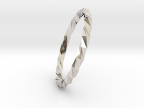 Twistium - Bracelet P=200mm Color in Rhodium Plated Brass