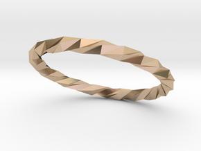 Twistium - Bracelet P=210mm Color in 14k Rose Gold