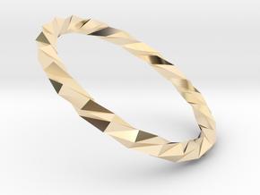 Twistium - Bracelet P=220mm Color in 14K Yellow Gold