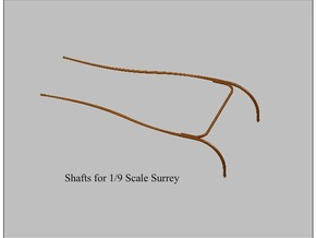 9th Scale Surrey Shafts in Smooth Fine Detail Plastic