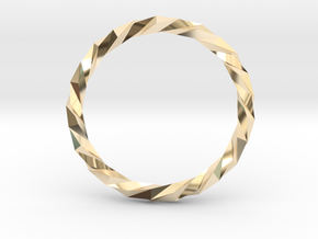 Twistium - Bracelet P=230mm Color in 14k Gold Plated Brass