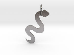 Silver Serpent Pendant in Polished Nickel Steel