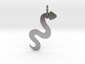 Silver Serpent Pendant in Polished Nickel Steel