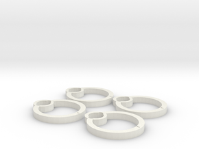 Blades protectors for Cheerson CX-10C in White Natural Versatile Plastic