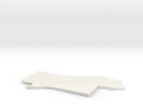 3D Site Plan in White Natural Versatile Plastic