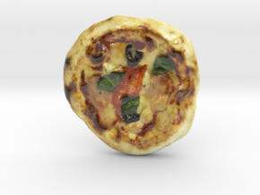 The Pizza-mini in Glossy Full Color Sandstone