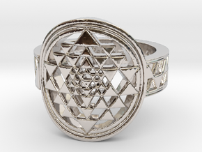 New Design Sri Yantra Ring Size 9 in Platinum