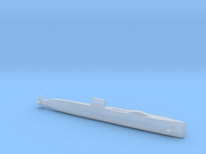 USS Halibut, Full Hull, 1/2400 in Smooth Fine Detail Plastic