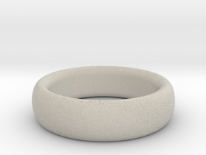 Plain Ring flat inside size11 w 7mm  t 3.2mm  in Natural Sandstone