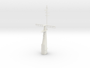 1/96 scale Hamilton Mast Front in White Strong & Flexible