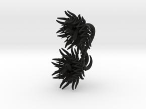 The Cthulhu Plugs / gauges/ 6g (4 mm)  in Black Natural Versatile Plastic