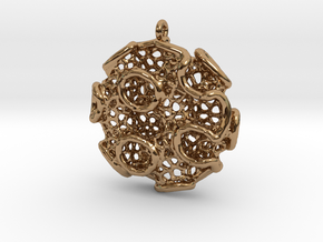 Gyro Disc Pendant (Earrings) in Polished Brass