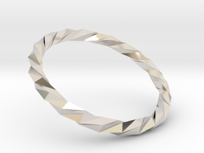 Twistium - Bracelet P=170mm in Rhodium Plated Brass