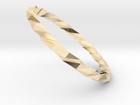 Twistium - Bracelet P=180mm in 14K Yellow Gold