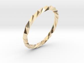 Twistium - Bracelet P=190mm in 14K Yellow Gold